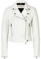 White Leather Jacket Women