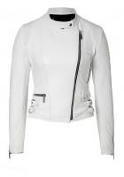 White Leather Jacket Womens