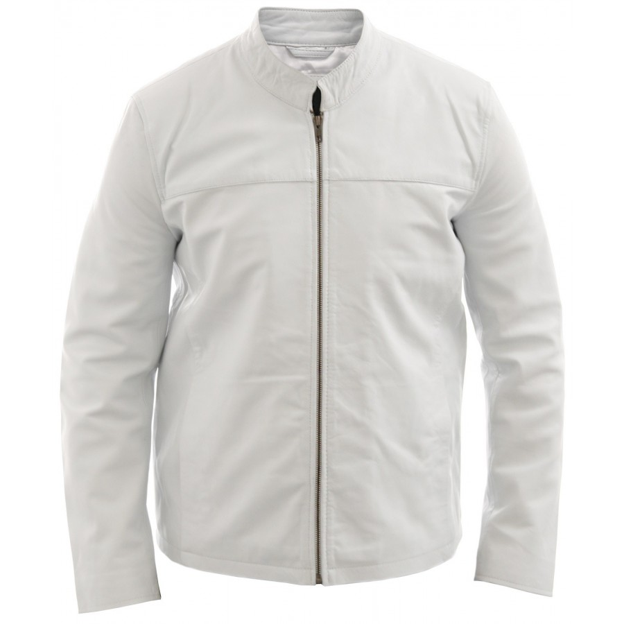 AOWOFS Men's PU Faux Leather Jacket White Black Moto Bomber Fashion Slim Fit Coat. by AOWOFS. $ - $ $ 29 $ 34 99 Prime. FREE Shipping on eligible orders. Some sizes/colors are Prime eligible. out of 5 stars Product Features Men's PU Faux Leather Jacket Fashion Slim Fit Zip Up Stain Contrast Colors.