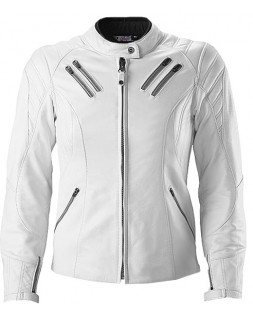 White Mens Leather Jacket