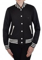 Womens Black Varsity Jacket