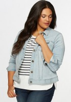 Womens Denim Jacket Plus Size
