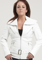 Womens White Leather Jackets